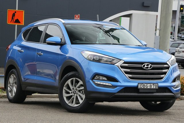 Used Hyundai Tucson TLE Elite D-CT AWD Parramatta, 2015 Hyundai Tucson TLE Elite D-CT AWD Blue 7 Speed Sports Automatic Dual Clutch Wagon