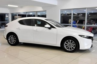 2019 Mazda 3 BP2H7A G20 SKYACTIV-Drive Pure White 6 Speed Sports Automatic Hatchback.