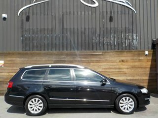 2007 Volkswagen Passat Type 3C MY08 TDI DSG Black 6 Speed Sports Automatic Dual Clutch Wagon.