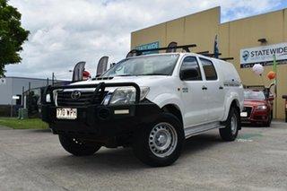 2011 Toyota Hilux KUN26R MY11 Upgrade SR (4x4) White 5 Speed Manual Dual Cab Pick-up.