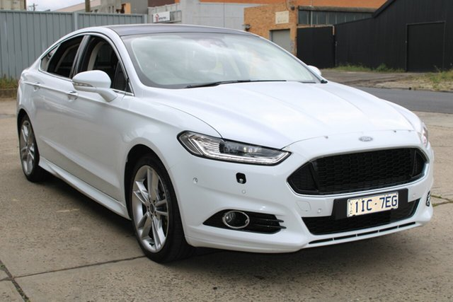 Used Ford Mondeo MD MY18.25 Titanium TDCi West Footscray, 2017 Ford Mondeo MD MY18.25 Titanium TDCi White 6 Speed Automatic Hatchback