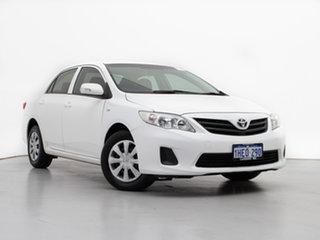2011 Toyota Corolla ZRE152R MY11 Ascent White 4 Speed Automatic Sedan.
