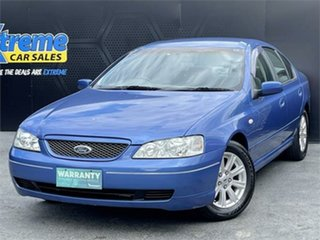 2004 Ford Falcon BA Futura Blue 4 Speed Sports Automatic Sedan.