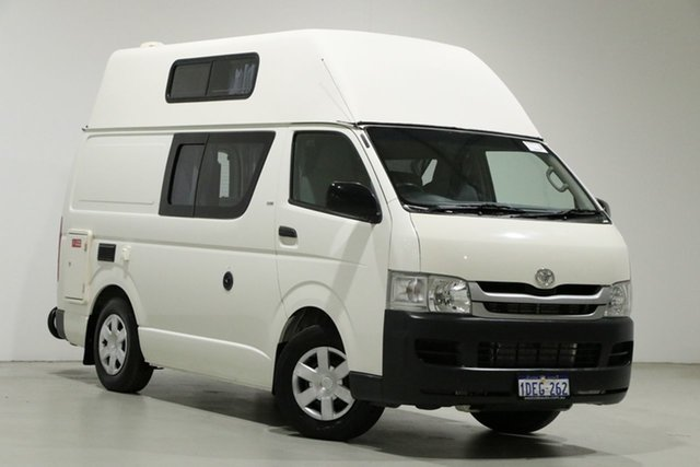 Used Toyota HiAce TRH201R MY07 Upgrade LWB Bentley, 2009 Toyota HiAce TRH201R MY07 Upgrade LWB White 5 Speed Manual Van