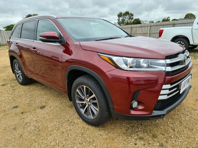 Used Toyota Kluger GSU50R GXL 2WD Warrnambool East, 2017 Toyota Kluger GSU50R GXL 2WD Red 8 Speed Sports Automatic Wagon