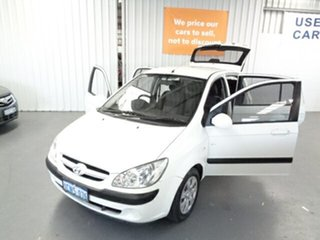 2006 Hyundai Getz TB MY06 White 5 Speed Manual Hatchback