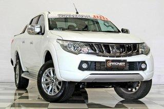 2017 Mitsubishi Triton MQ MY18 GLS (4x4) White 5 Speed Automatic Dual Cab Utility.