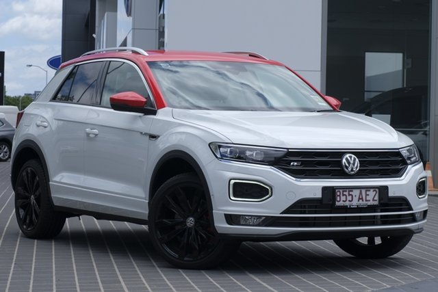 Demo Volkswagen T-ROC A1 MY20 140TSI DSG 4MOTION X Newstead, 2020 Volkswagen T-ROC A1 MY20 140TSI DSG 4MOTION X Pure White 7 Speed Sports Automatic Dual Clutch