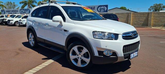 Used Holden Captiva CG MY13 7 AWD LX East Bunbury, 2013 Holden Captiva CG MY13 7 AWD LX White 6 Speed Sports Automatic Wagon