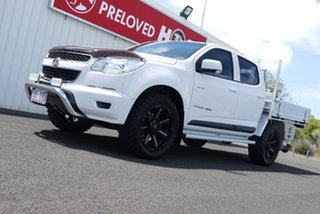 2014 Holden Colorado RG MY14 LX Crew Cab White 6 Speed Manual Cab Chassis.