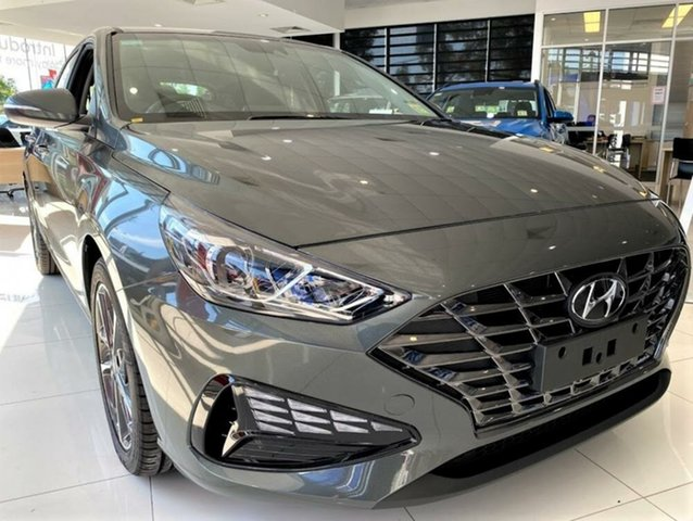 New Hyundai i30 PD.V4 MY21 Elite Mount Gravatt, 2020 Hyundai i30 PD.V4 MY21 Elite Amazon Gray 6 Speed Sports Automatic Hatchback