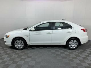 2008 Mitsubishi Lancer CJ MY09 ES Sportback White 6 Speed Constant Variable Hatchback