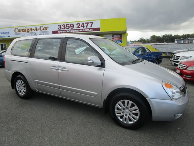 Used Kia Grand Carnival VQ MY12 S Kedron, 2012 Kia Grand Carnival VQ MY12 S Silver 6 Speed Sports Automatic Wagon