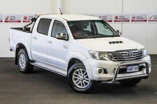 2011 Toyota Hilux KUN26R MY10 SR5 Glacier White 4 Speed Automatic Utility.