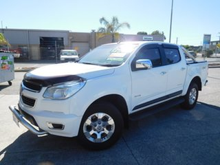 2013 Holden Colorado RG MY13 LTZ Crew Cab White 6 Speed Sports Automatic Utility.