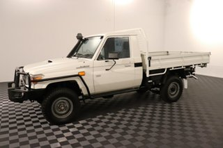 2015 Toyota Landcruiser VDJ79R Workmate French Vanilla 5 speed Manual Cab Chassis