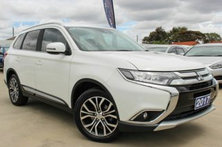 2017 Mitsubishi Outlander ZK MY18 LS 2WD Safety Pack White 6 Speed Constant Variable Wagon