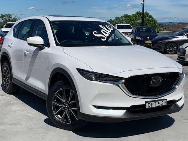 Used Mazda CX-5 KF4WLA Akera SKYACTIV-Drive i-ACTIV AWD Liverpool, 2017 Mazda CX-5 KF4WLA Akera SKYACTIV-Drive i-ACTIV AWD Snowflake White 6 Speed Sports Automatic