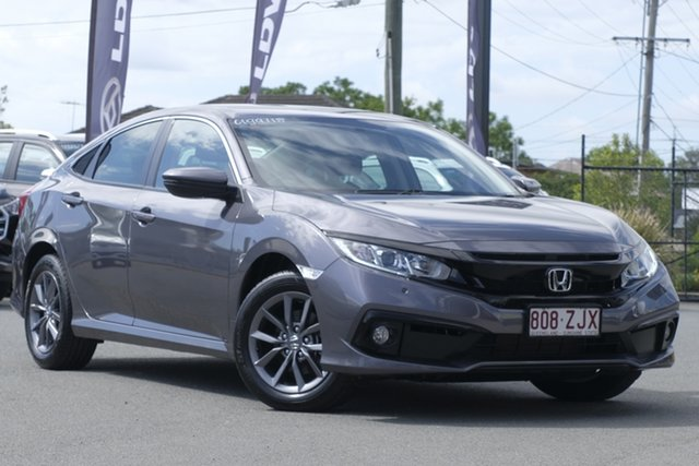 Used Honda Civic 10th Gen MY19 VTi-S Rocklea, 2019 Honda Civic 10th Gen MY19 VTi-S Modern Steel 1 Speed Constant Variable Sedan