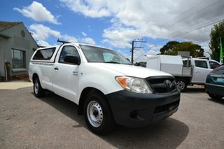 2005 Toyota Hilux GGN15R SR White 5 Speed Manual Pickup.