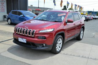 2014 Jeep Cherokee KL MY15 Longitude (4x4) Red 9 Speed Automatic Wagon.