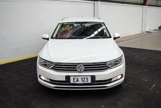 2017 Volkswagen Passat 3C (B8) MY18 132TSI DSG White 7 Speed Sports Automatic Dual Clutch Wagon.