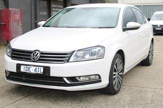 2015 Volkswagen Passat 3C MY15 130 TDI Highline White 6 Speed Direct Shift Sedan.