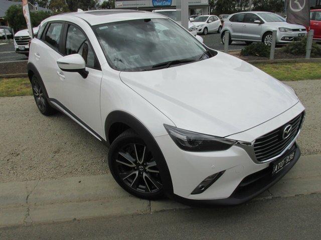 Used Mazda CX-3 DK2W7A Akari SKYACTIV-Drive Echuca, 2018 Mazda CX-3 DK2W7A Akari SKYACTIV-Drive White 6 Speed Sports Automatic Wagon