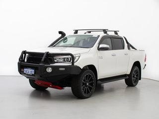 2018 Toyota Hilux GUN126R MY17 SR5 (4x4) White 6 Speed Automatic Dual Cab Utility.
