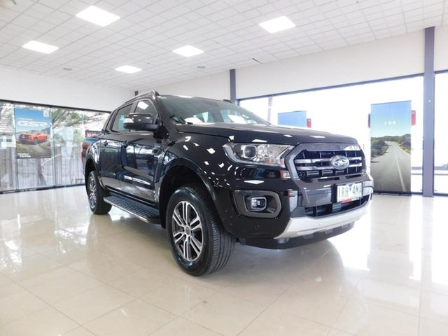 Used Ford Ranger PX MkIII 2020.25MY Wildtrak Wonthaggi, 2020 Ford Ranger PX MkIII 2020.25MY Wildtrak Black 10 Speed Sports Automatic Double Cab Pick Up