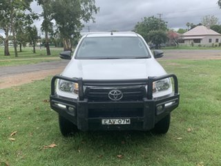 2019 Toyota Hilux GUN126R SR Double Cab White 6 Speed Manual Cab Chassis.