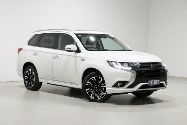 Used Mitsubishi Outlander ZK MY17 Exceed PHEV Bentley, 2017 Mitsubishi Outlander ZK MY17 Exceed PHEV White 1 Speed Automatic Wagon