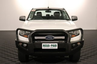 2016 Ford Ranger PX MkII XLS Double Cab Cool White 6 speed Manual Utility.