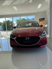 2020 Mazda 2 G15 Pure Red 6 Speed Automatic Sedan.