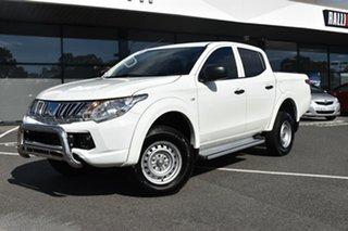 2015 Mitsubishi Triton MQ MY16 GLX Double Cab 4x2 White 5 Speed Sports Automatic Utility.