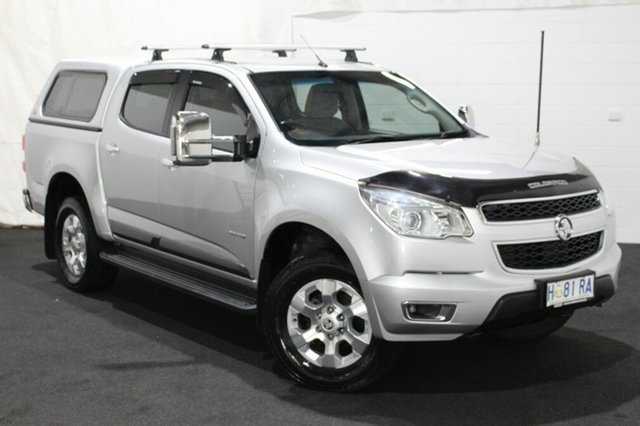Used Holden Colorado RG MY14 LTZ Crew Cab 4x2 Glenorchy, 2014 Holden Colorado RG MY14 LTZ Crew Cab 4x2 Silver 6 Speed Sports Automatic Utility