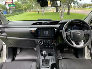 2019 Toyota Hilux GUN126R SR Double Cab White 6 Speed Sports Automatic Utility