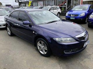 2007 Mazda 6 GG MY07 Sports Blue & Black 5 Speed Auto Activematic Sedan.