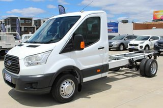 2015 Ford Transit VO 470E White 6 Speed Manual Single Cab Cab Chassis