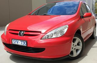 2004 Peugeot 307 T5 MY04 XSE Red 5 Speed Manual Hatchback