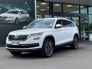2020 Skoda Kodiaq NS MY20.5 132TSI DSG White 7 Speed Sports Automatic Dual Clutch Wagon