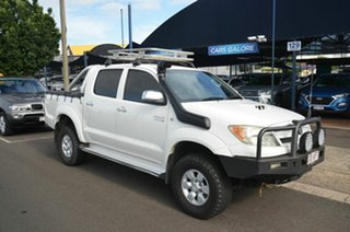2005 Toyota Hilux KUN26R SR5 (4x4) White 5 Speed Manual Dual Cab Pick-up.