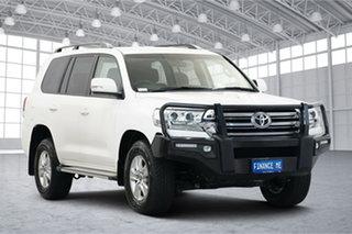 2019 Toyota Landcruiser VDJ200R GXL White 6 Speed Sports Automatic Wagon.