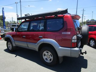 1998 Toyota Landcruiser Prado VZJ95R VX Grande Red 4 Speed Automatic Wagon.