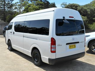 2009 Toyota HiAce TRH223R MY08 Commuter High Roof Super LWB White 4 Speed Automatic Bus