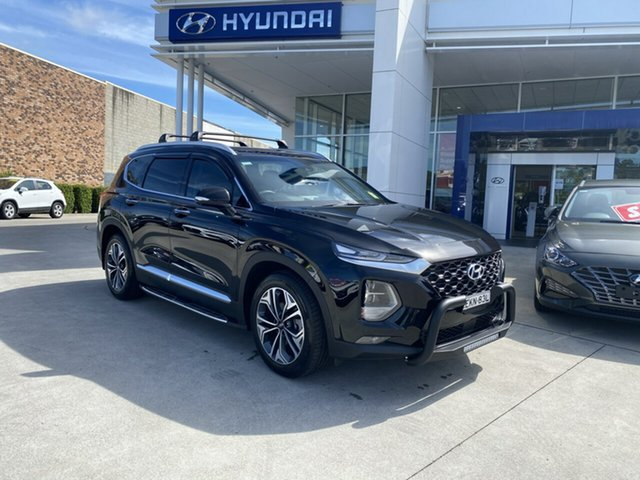 Demo Hyundai Santa Fe TM.2 MY20 Highlander Cardiff, 2020 Hyundai Santa Fe TM.2 MY20 Highlander Phantom Black 8 Speed Sports Automatic Wagon