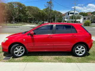 2006 Toyota Corolla ZZE122R 5Y Ascent Sport Red 4 Speed Automatic Hatchback