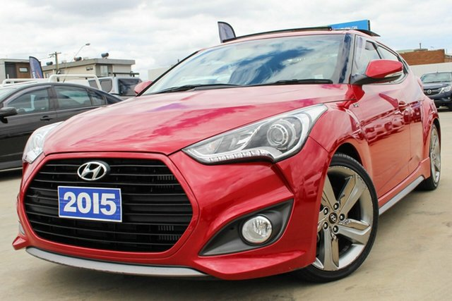 Used Hyundai Veloster FS4 Series II SR Coupe D-CT Turbo Coburg North, 2015 Hyundai Veloster FS4 Series II SR Coupe D-CT Turbo Red 7 Speed Sports Automatic Dual Clutch