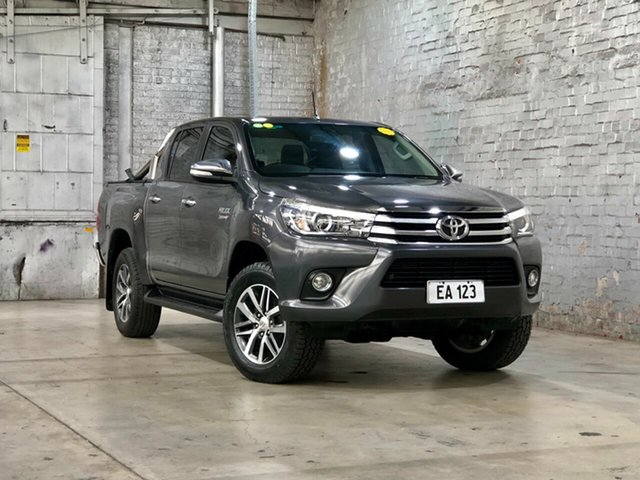 Used Toyota Hilux GUN126R SR5 Double Cab Mile End South, 2017 Toyota Hilux GUN126R SR5 Double Cab Grey 6 Speed Sports Automatic Utility