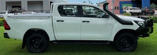 2019 Toyota Hilux GUN126R SR Double Cab White 6 Speed Sports Automatic Utility.